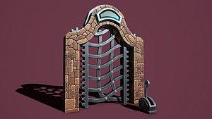 3D model Fantasy gate