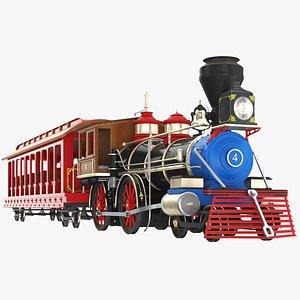 Amusement Park Train Ride 3D model