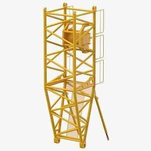 3D model crane s pivot section