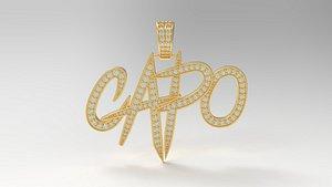 capo pendant hiphop 3D model