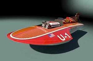 3D hydroplane budweiser