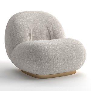Gubi Pacha lounge chair 3D model