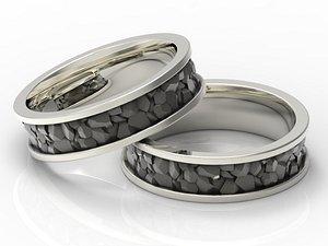 3D Ring stylized stone