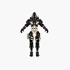 3D Cyber Assassin model