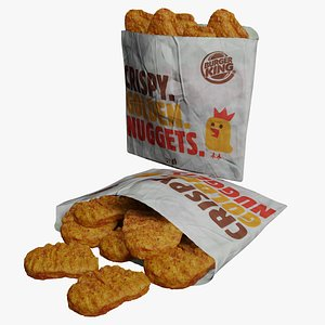 Burger King Nuggets Photorealistic PBR Low-poly 3D model