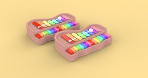 3D Toys musical instruments  piano