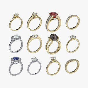3D Rings collection