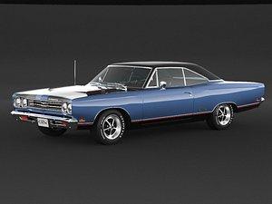 3D 1969 Plymouth GTX