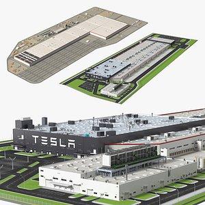 Tesla Factories Collection 3D model