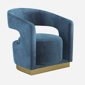 accent chair essential home 3D