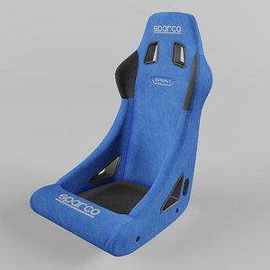 Sparco SPRINT Sports Racing Seat Suede Blue 3D model