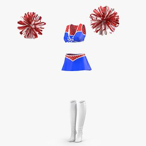 3D Cheerleader Outfit Set model