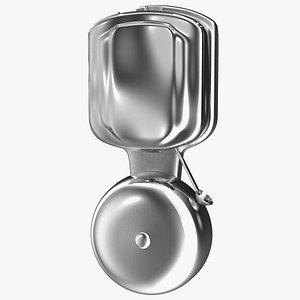 3D mounted chrome striker bell