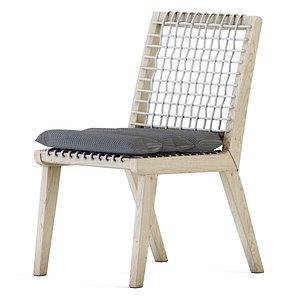 3D model teaka chair wood