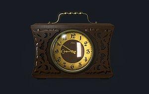 3D Old Antique Clock