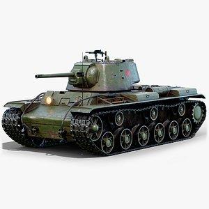 kv1 tank gameready 3D