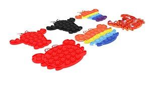 Lobster And Crab Pop It Fidget Toys Set model