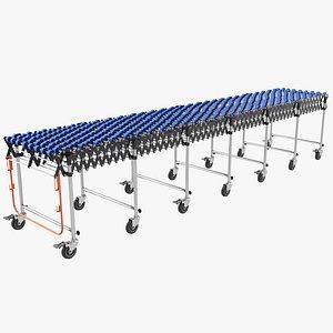 conveyor roller industrial 3D