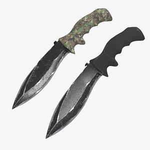 knife weapon 3D model