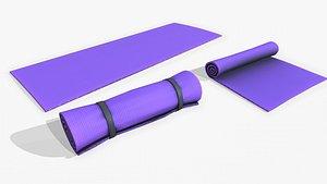 Yoga mat PBR 3D model