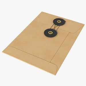Envelope with string mockup 3D
