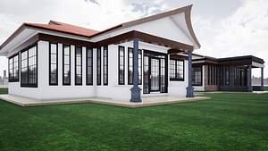 3D model Two Small Houses Two Bedroomed Bungalow