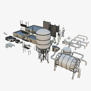 city rooftops work building 3D