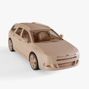 3D Citroen C5 Tourer model
