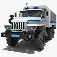 URAL 4320 Police Truck Simple Interior