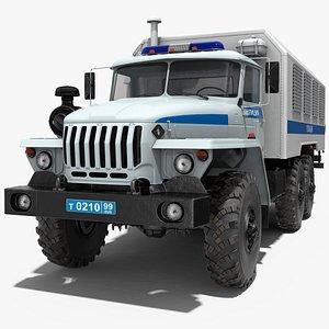 3D ural 4320 police truck