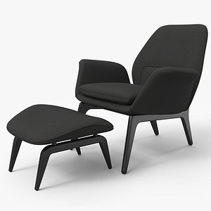 3D model Lounge Chair Black - PBR