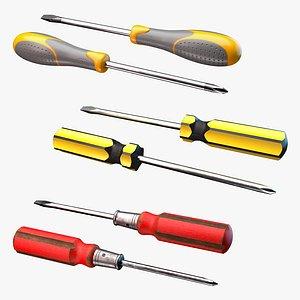 screwdrivers set 3D model