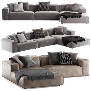 3D model Rolf benz 552 Mio L sofa
