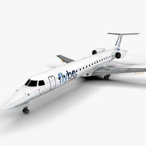 FLYBE EMBRAER ERJ 145 L1507 3D model