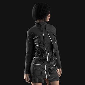 Female outfit Marvelous Designer project model