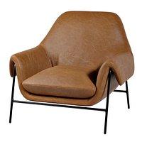 Hooker Furniture Living Room Ambroise Metal Frame Club Chair