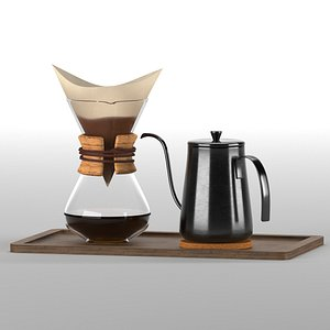 3D coffee espresso model