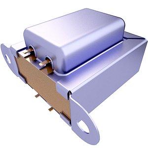Single Phase Electrical Transformer 3D Model 65 3D
