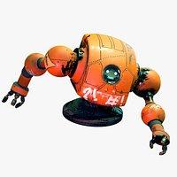 Floating Orange Robot - Old Robot