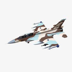 3D f16-d aircraft