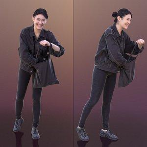 3D woman laugh bag