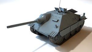 JagdPanzer 38T Hetzer with interior 3D model