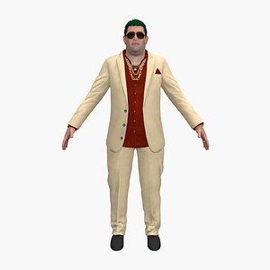 3D male man