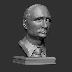 3D polygonal bust vladimir putin
