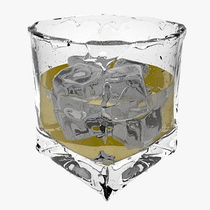 ice whiskey glass 3D model