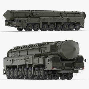 3D rs-28 sarmat -28 missile