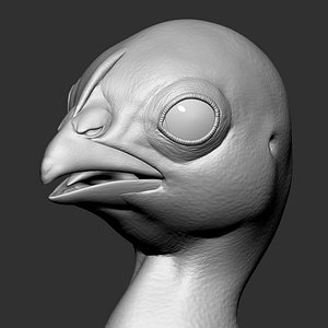 3D Chick  Baby Zbrush model