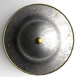 3D Medieval Steel Buckler