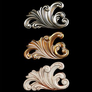 3D Classic carved 072