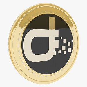 3D Daps token Cryptocurrency Gold Coin